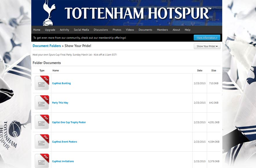 Tottenham Hotspur Football Club - Follr Fan Photo Documents