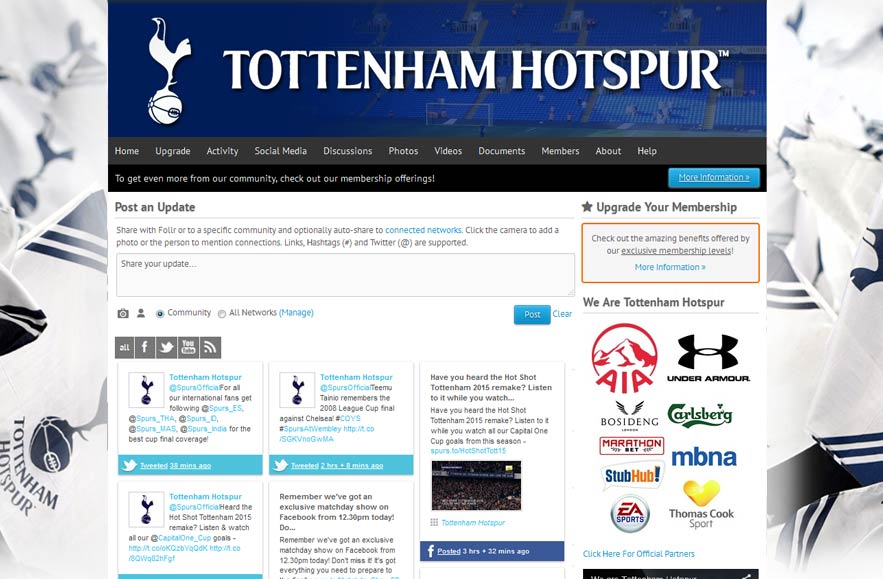 Tottenham Hotspur Football Club - Follr Fan Home
