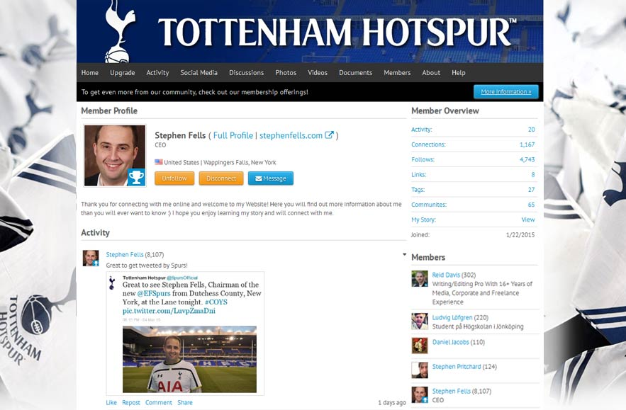Tottenham Hotspur Football Club - Follr Fan Profile