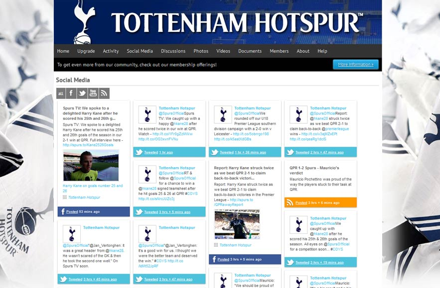 Tottenham Hotspur Football Club - Follr Fan Photo Social Media
